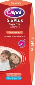 Calpol Six Plus Sugar-Free Suspension 200ml