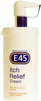 E45 Itch Relief Cream Pump Dispenser 500g
