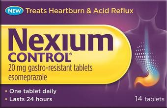 Nexium Control Gastro-resistant Tablets 20mg Pack of 14