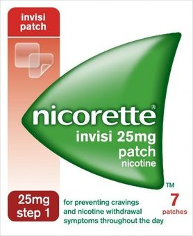 Nicorette 25mg Invisi-patch Step 1 Pack of 7