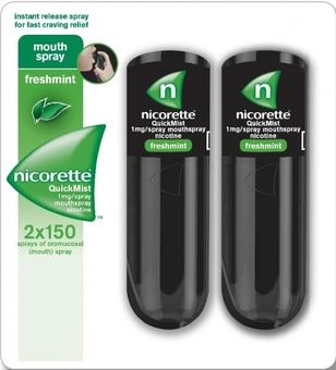 Nicorette Quickmist 1mg Duo 2x150 spray