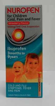 Nurofen For Children Sugar-free Strawberry 200ml