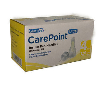 Carepoint 4mm 32g Needles x 100