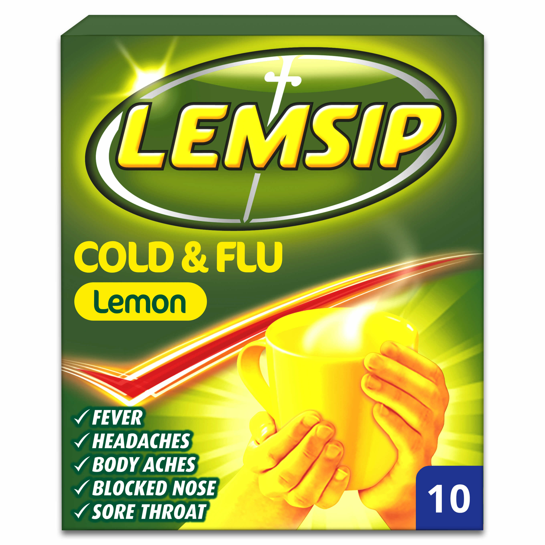 Lemsip Cold & Flu Lemon Sachets