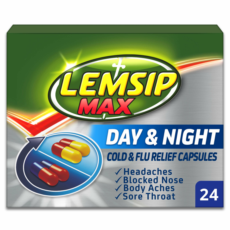 Lemsip Max Cold & Flu Day & Night Capsules