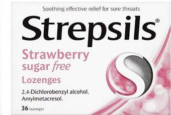 Strepsils Sugar Free Strawberry Pack of 36