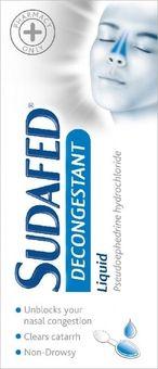 Sudafed Decongestant Liquid