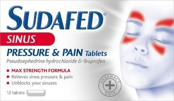 Sudafed Sinus Pressure & Pain Tablets Pack Of 12