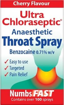 Ultra Chloraseptic Anaesthetic Throat Spray Cherry 15ml