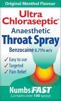 Ultra Chloraseptic Anaesthetic Throat Spray Original Menthol 15ml