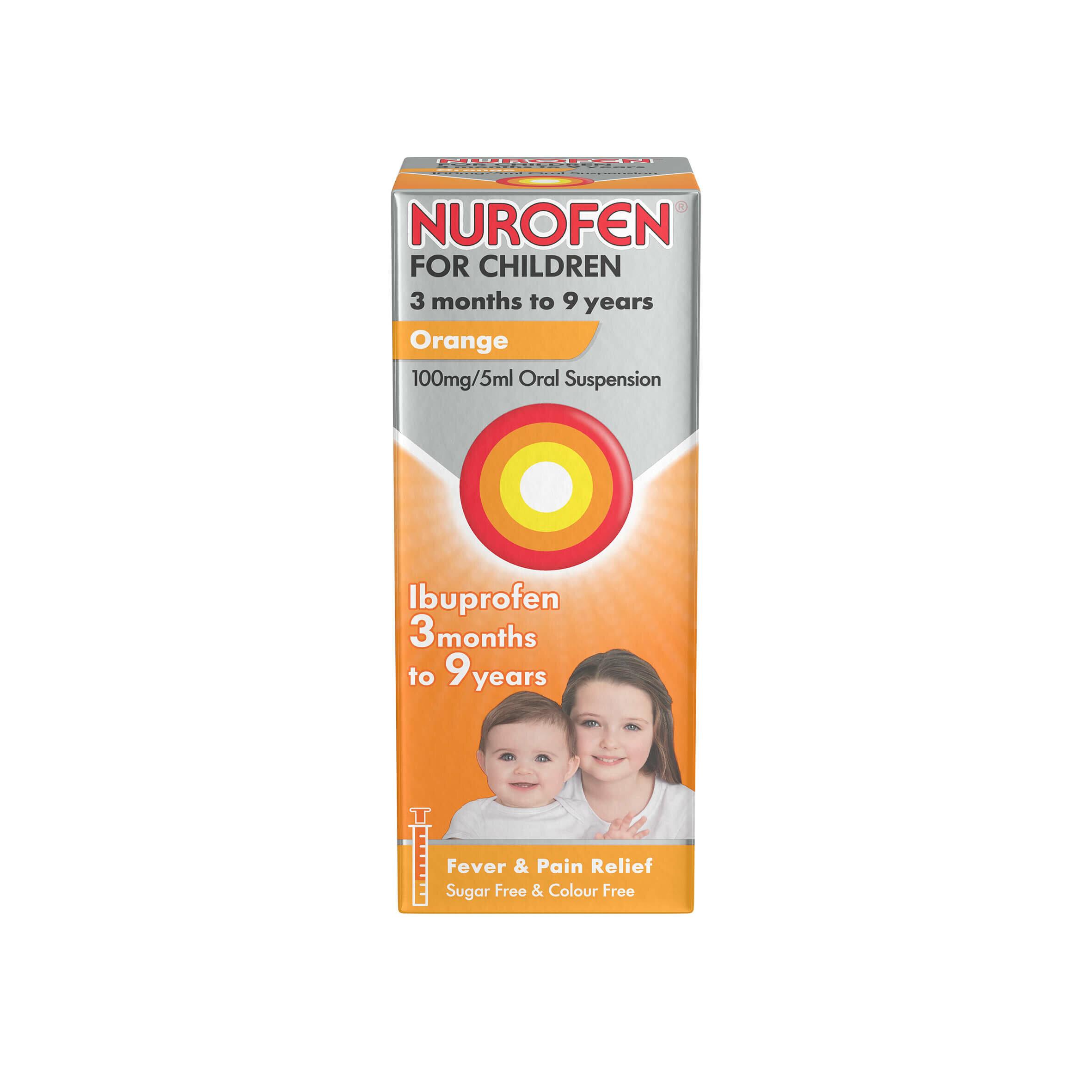 Nurofen For Children 3 Months To 9 Years Orange 100ml