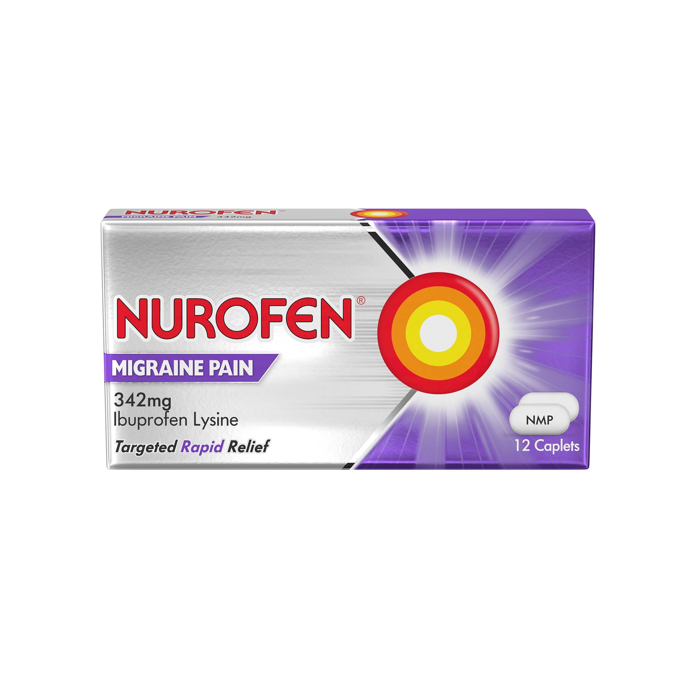 Nurofen Migraine Pain Tablets Pack of 12