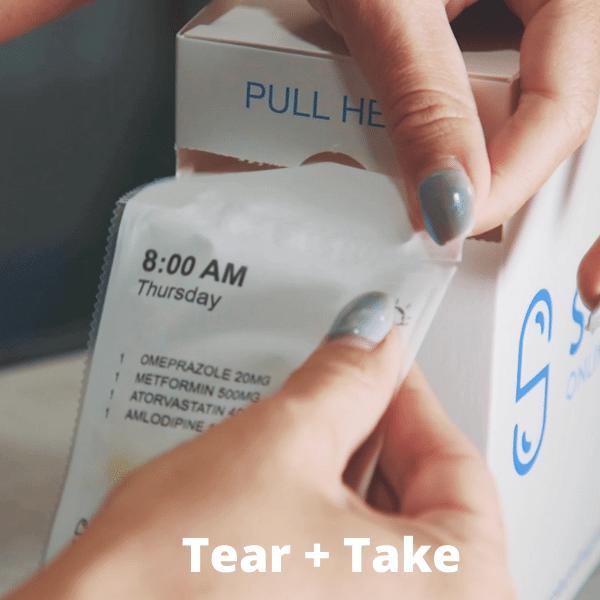 disposable pill box